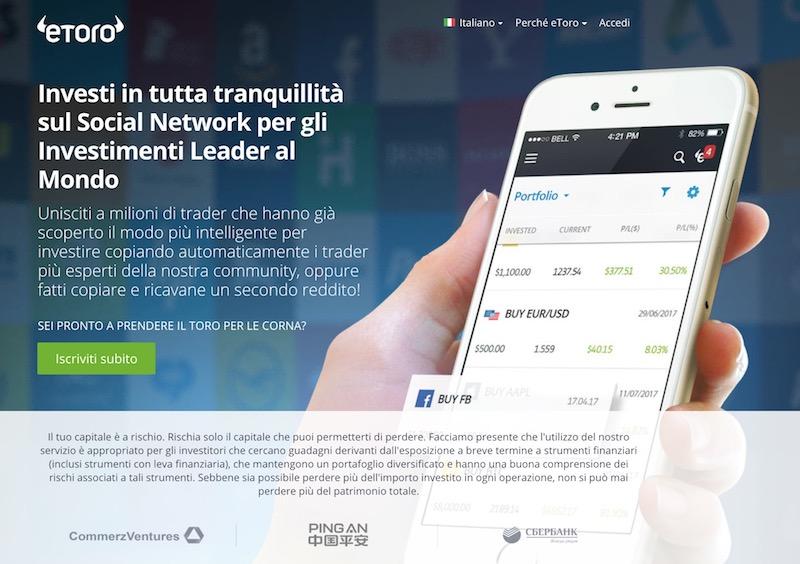 Apri un conto di trading demo con eToro